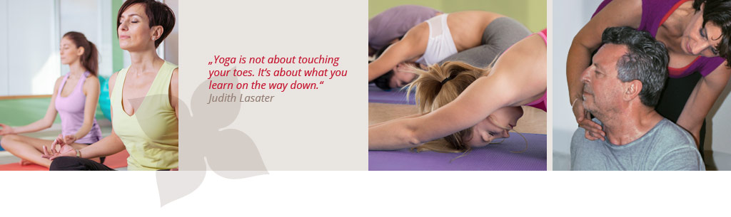 Yoga is not about touching your toes. It's about what you learn on the way down.